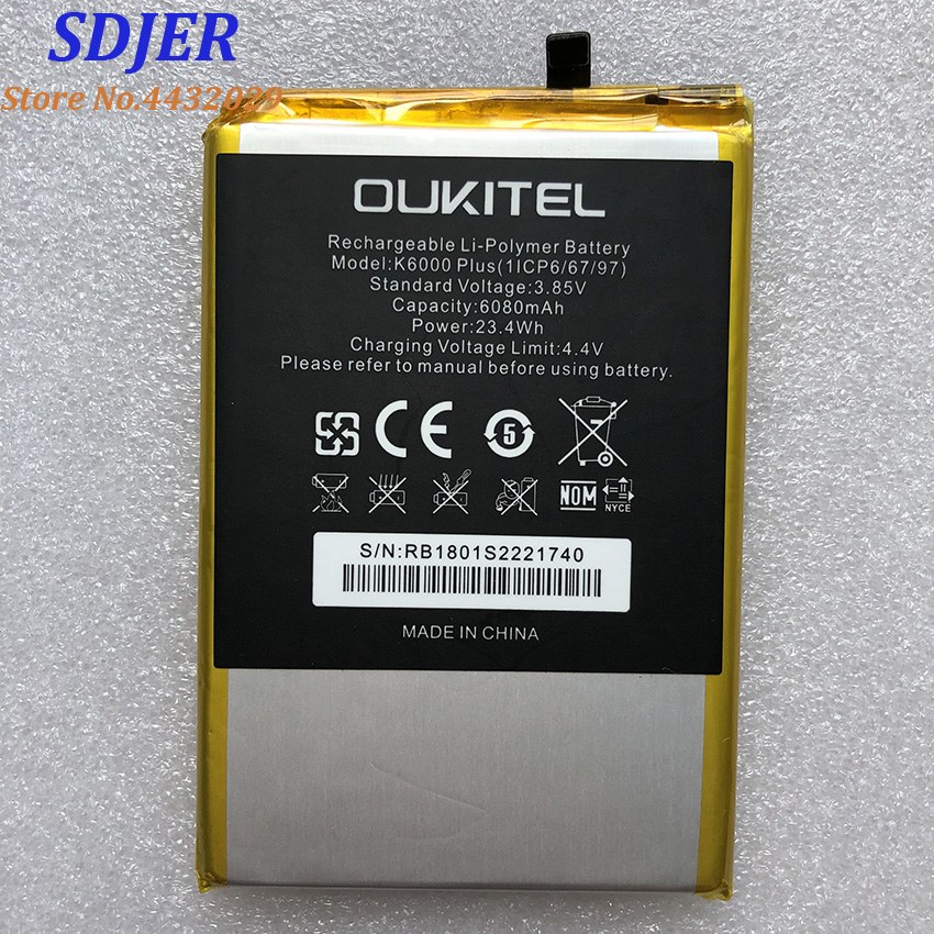 100% New OUKITEL K6000 PLUS Replacement 6068mAh Parts Backup Battery For OUKITEL K6000 PLUS Smart Phone