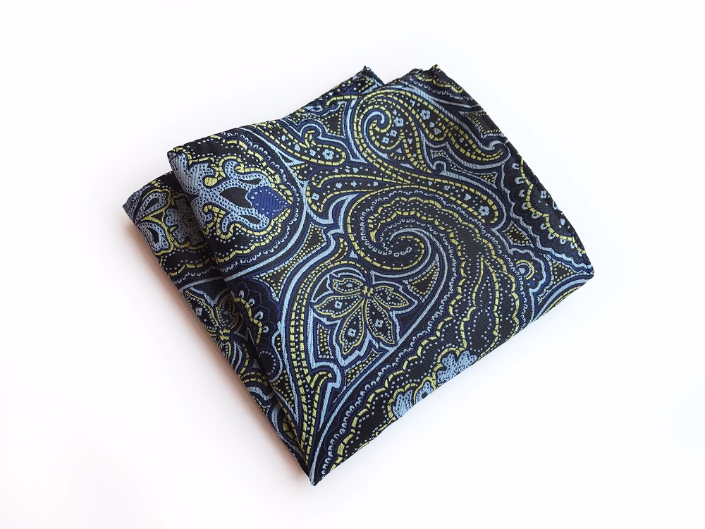 25x25 Big Size Men Handkerchief Jacquard Woven Handmade Hanky For Suits