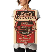 New Arrival Text Pattern Dad's Garage Classic Vintage Kraft Paper Poster Wall Sticker Bar Cafe Restaurant  Living Room