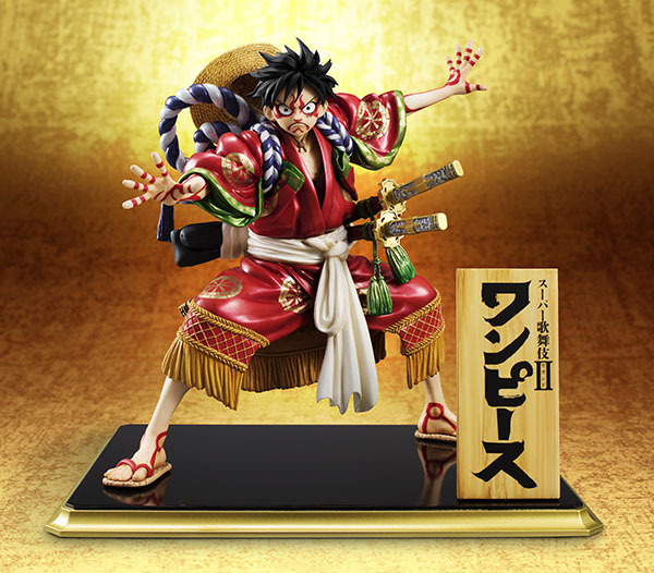 Anime One Piece Monkey D Luffy Kimono Kabuki Edition PVC Action Figures Collection Model Brinquedos Toys цена