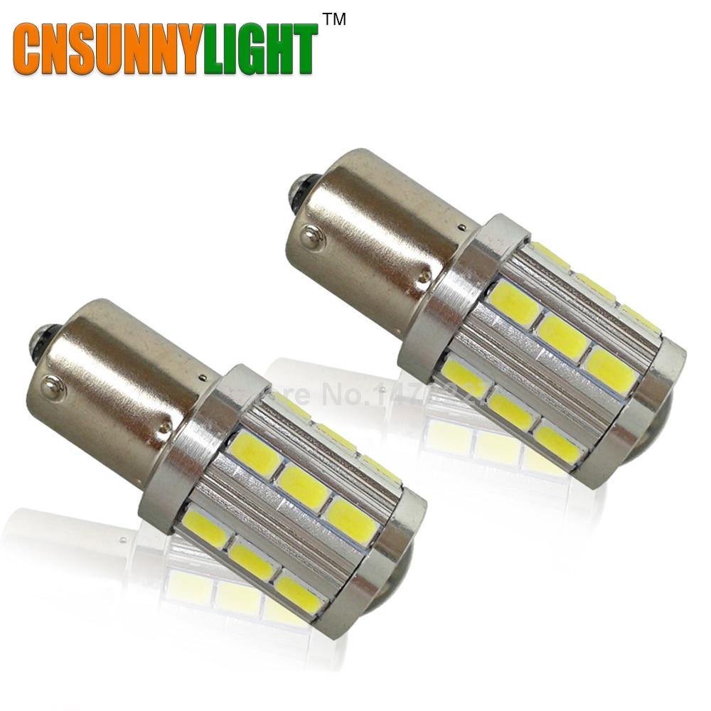 Prix pour CNSUNNYLIGHT 1156 BA15S P21W 5730 21SMD Objectif Du Projecteur LED Lampe De Voiture Clignotants Ampoule Feux Arrière de Détail Inverse Lumière Lampe
