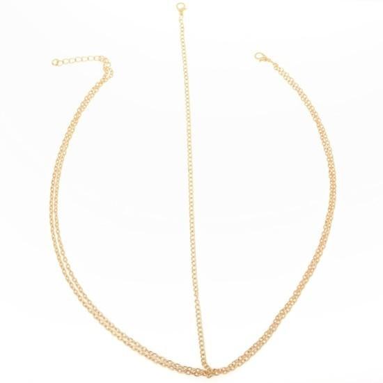 HTB1lE.tGXXXXXbgXFXXq6xXFXXXU Boho Style Two-Layer Gold Head Chain Jewelry