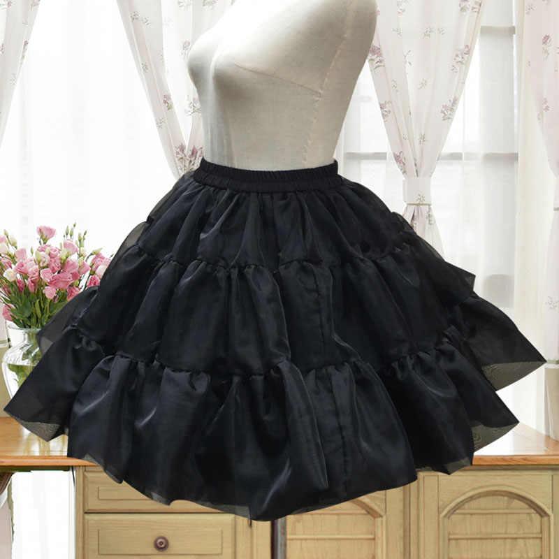 928b76c884 ... Black Voile Ruffle Fluffy Ball Gown Rockabilly Underskirt Lolita  Petticoat Gothic Skirt Tutu Pettiskirt Women Dance ...