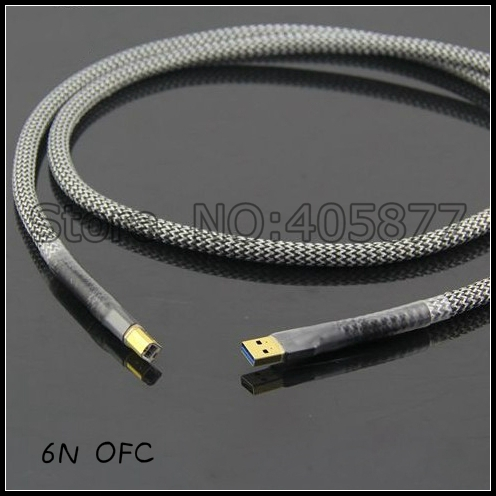 Hi-End 1M A to B USB Audio Cable OFC Silver-Plated USB Hifi cable usb 3 0 female to micro usb 3 0 b male audio video cable black silver 22cm