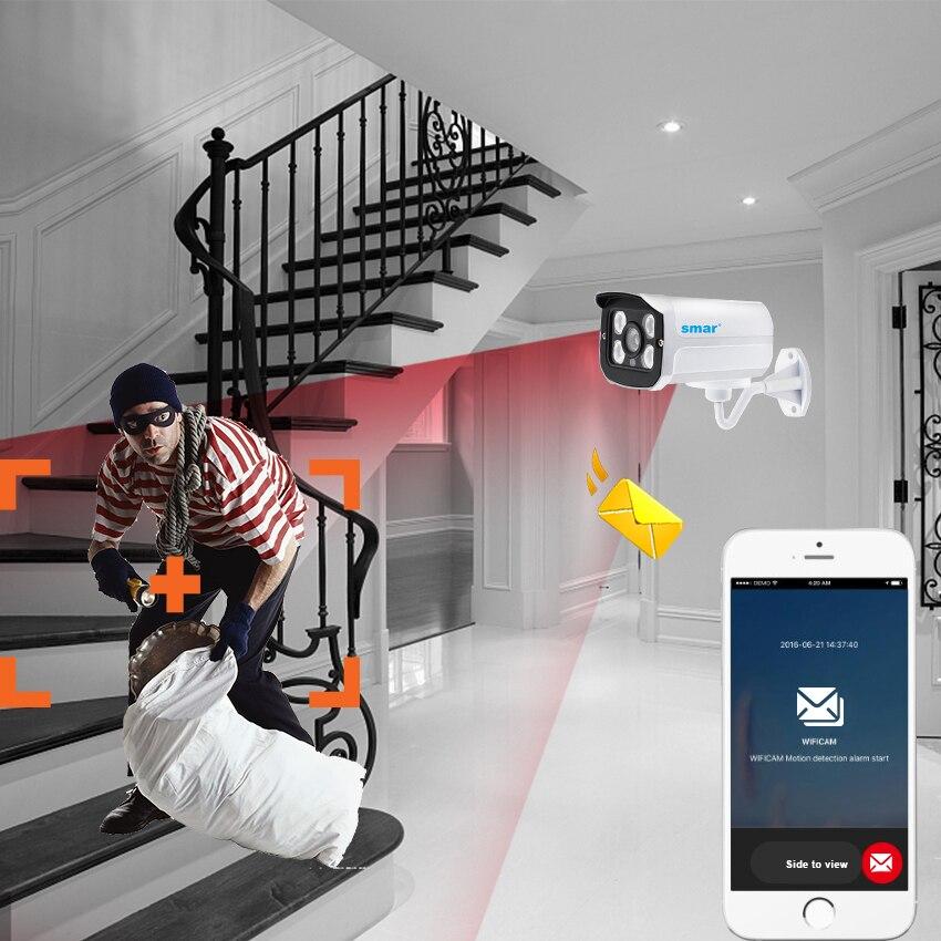 Smar H.265 IP Kamera 2MP 4MP Im Freien Wasserdichte Nachtsicht Kugel Kamera Metall IR-CUT Filter Home Security ONVIF POE Optional