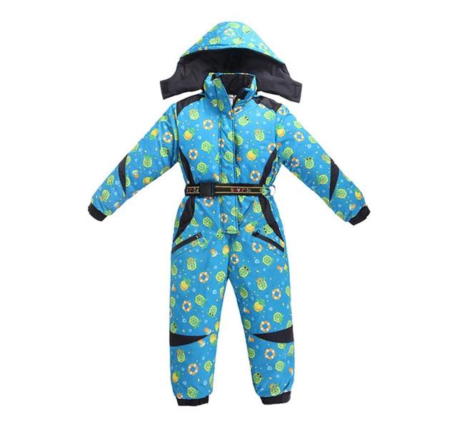 Russian Winter Children Snow Suit Windproof Boys Girls Winter Jumpsuit Fleece Cotton Padded Romper for 3-8Y