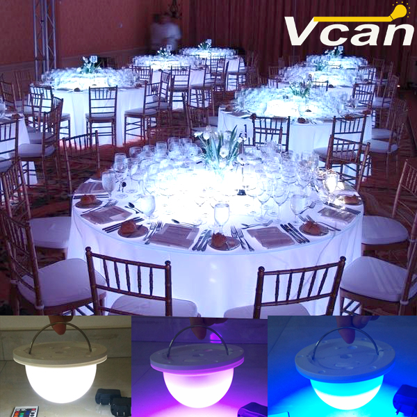 NEW DHL Portable Wireless Battery operated Under table led light for wedding table decoration