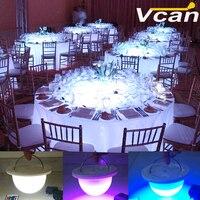 NUOVO DHL Portatile Batteria Senza Fili operato Sotto Il tavolo ha condotto la luce per la cerimonia nuziale decorazione della tavola