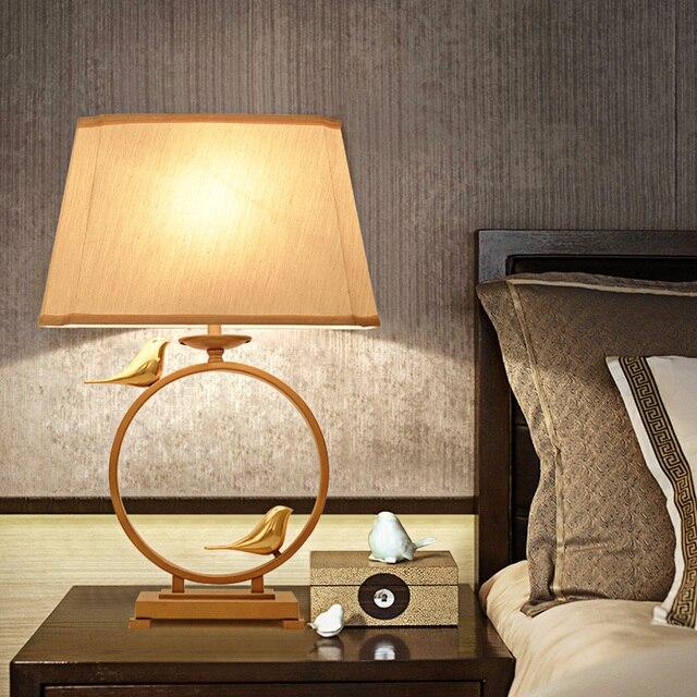 Gaya Cina Ruang Tidur Studi Lampu Meja Baru Besi Riverside Klasik