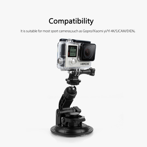Image 2 - Vamson for Go Pro Hero 8 7 6 5+9CM Diameter Car Suction Cup Tripod Base Mount For Gopro Accessories for SJ4000 for Xiaomi VP522