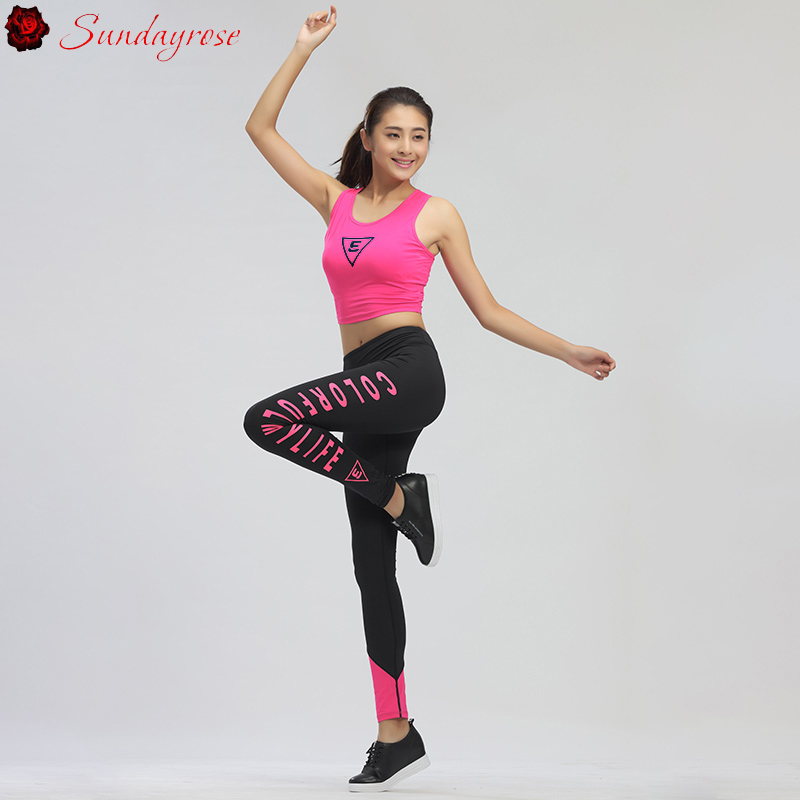 ФОТО 2 Pieces Elastic Yoga Sets Women's Brand Clothing Sexy Slim Yoga Fitness Sets Training Running Set Skinny Track Suits For Female