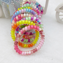 Telephone Line Hair Ring Hair Accessories  Spring Rubber Band Elastic  Bands For Girl Rope Tie Hair Accessory
