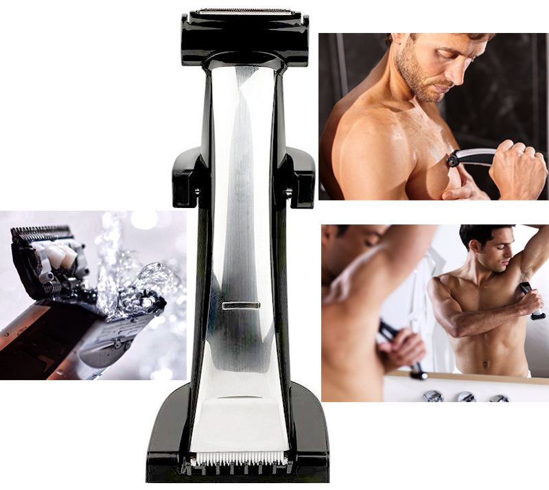 wet/dry Professional Shaver Body groomer hair trimmer clipper kit men head electric shaving trimer hair cutting machine 100-240V