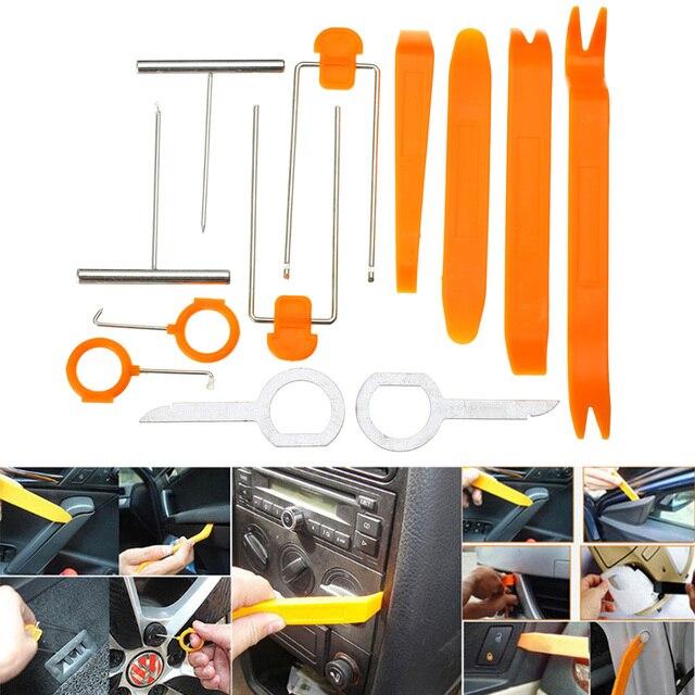 US $4 89 29% OFF|12pcs/Set Automobile Plastic Car Door Clip Panel Trim Dash  Radio Audio Removal Installer Pry Repair Rocker Kit Diagnostic Tools-in