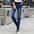 Hombres Camiseta Slim Fit Pantalones Vaqueros Rectos Casuales Pantalones de Algodón Elástico Mediados de Cintura Flaco Lápiz Pantalones Vaqueros Azules para Los Hombres 8012 Tamaño 27-36
