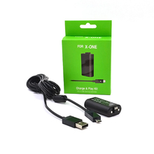 цена на For Xbox One Gamepad Rechargeable Battery Pack With 2.75m USB Cable for XBOX ONE Wireless Game Controller Replacement Batteries