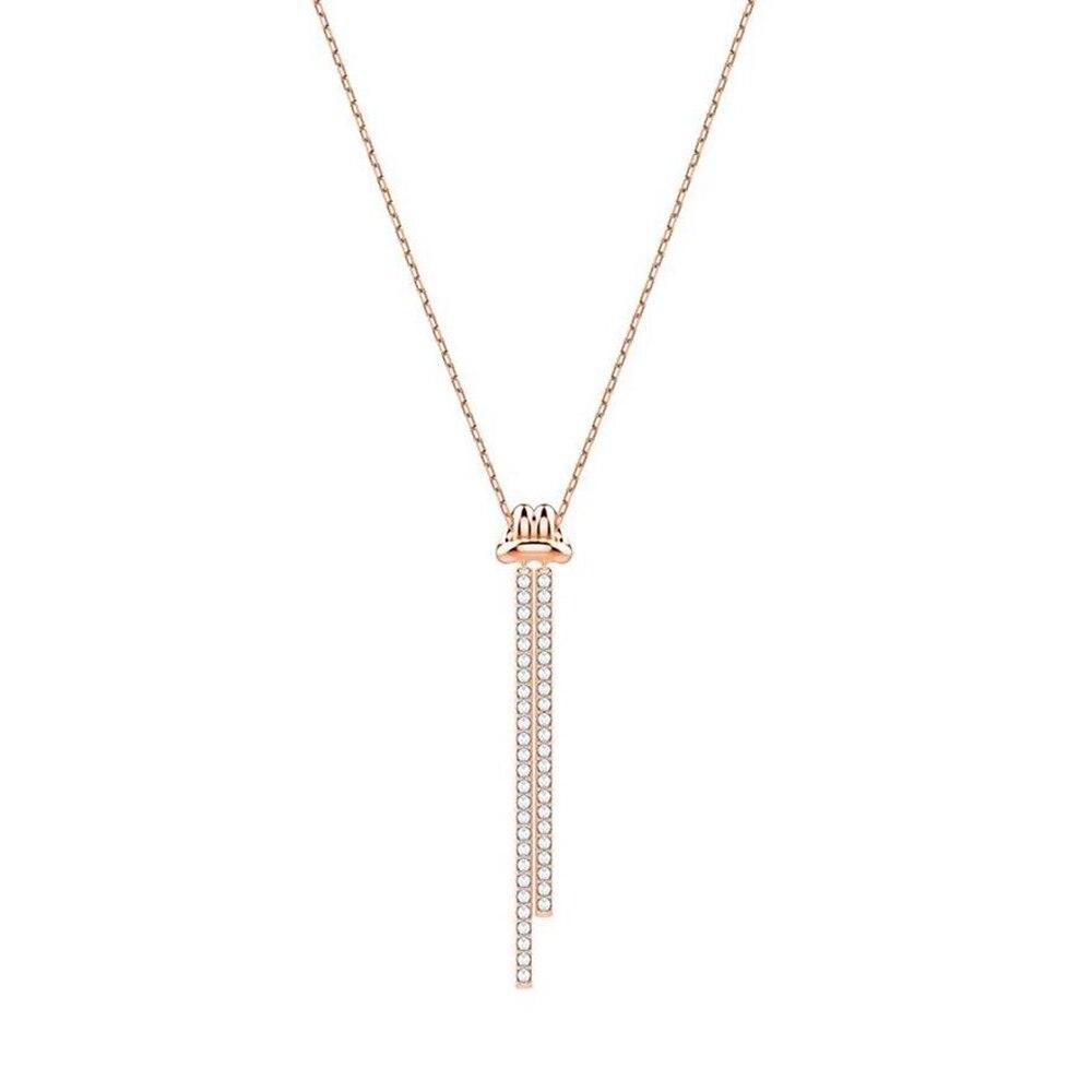 2018 Neue Y-förmigen Halskette Verdrehte Design Kurzen Schlüsselbein Kette Zu Senden Freundin Geschenk Knicke Design Symbol Geschenk Wahl Durchsichtig In Sicht