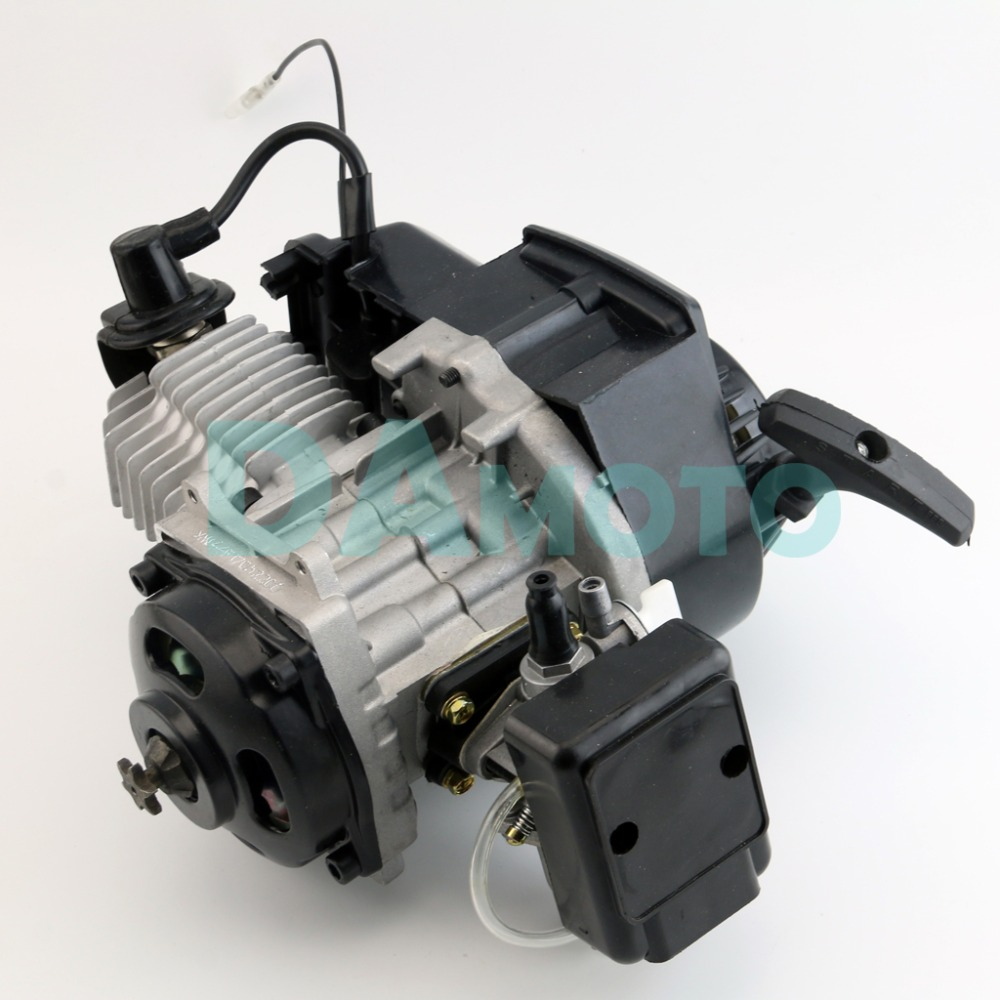 49CC  Engine Motor 2 STROKE For Mini Pocket Rocket Bike ATV Scooter+T8F Chain