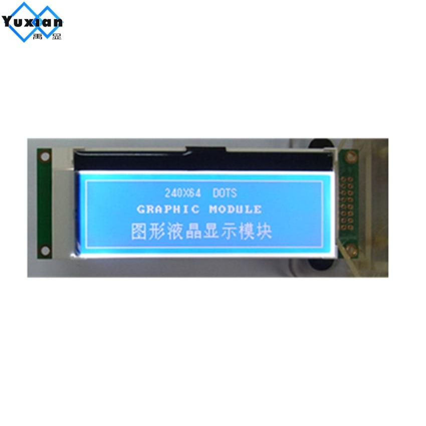 Livraison gratuite 1 pcs mince petite mini 24064 240x64 LCD affichage module graphique bleu 3.3 v UC1698u série SPI LG240645 haute qualité 1u