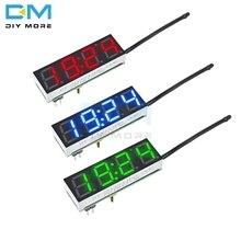 Светодиодные цифровые часы DS3231 DS3231SN, 3 в 1, модуль напряжения и температуры, термометр, вольтметр, плата постоянного тока 5-30 в