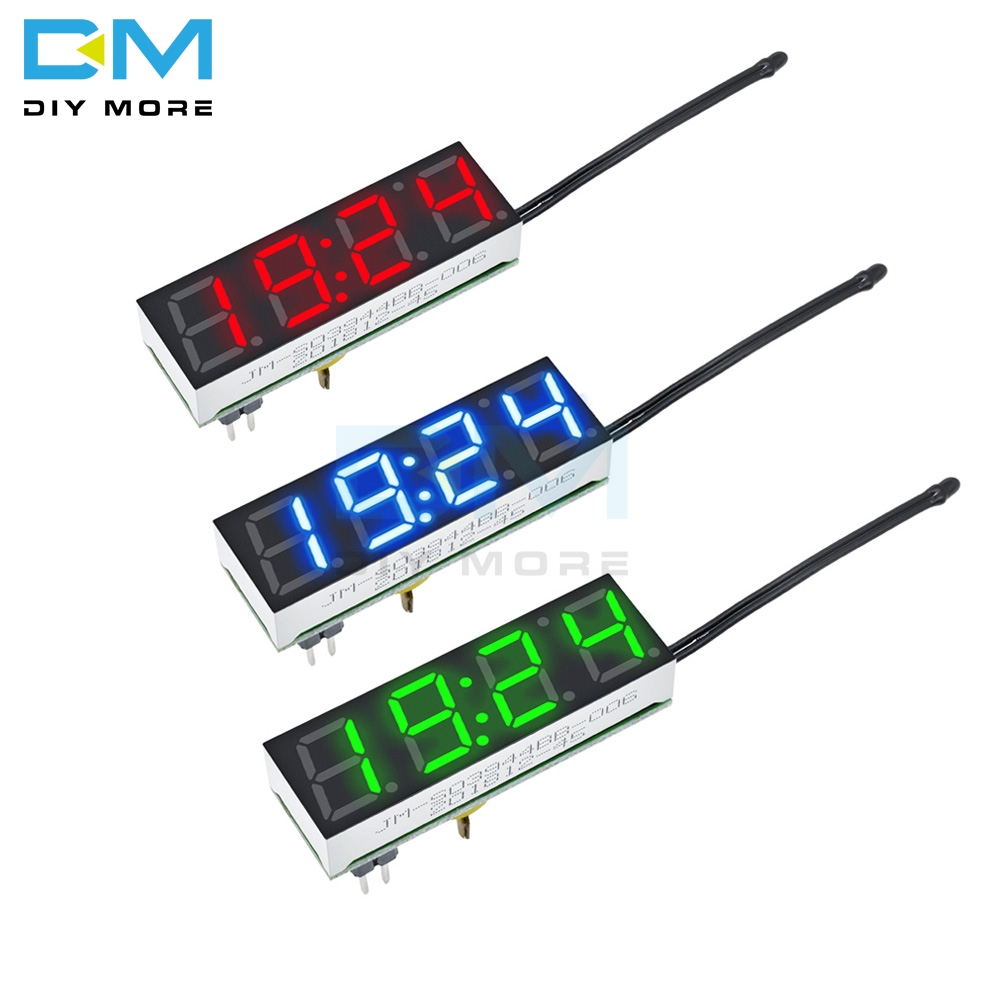 KING DO WAY 3In1 Auto Car 12V Digital LED Voltmeter Spannung Temperatur Uhr Thermometer kfz Blau