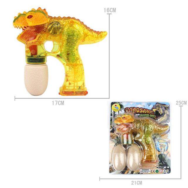 LeadingStar Children Dinosaur Bubble Maker Electric Bubble Gun with Music Light as Perfect Gift for Kids 3