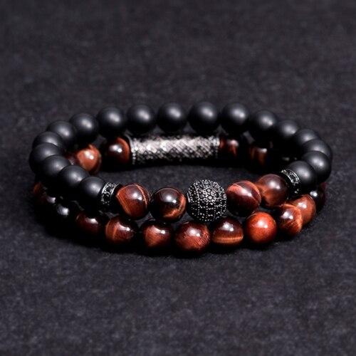 Neu kommen Männer Frau Blau tiger augen Perle Armband 10mm Mikro Pflastern CZ Perlen Schwarz Buddha Armband für Frauen und Männer