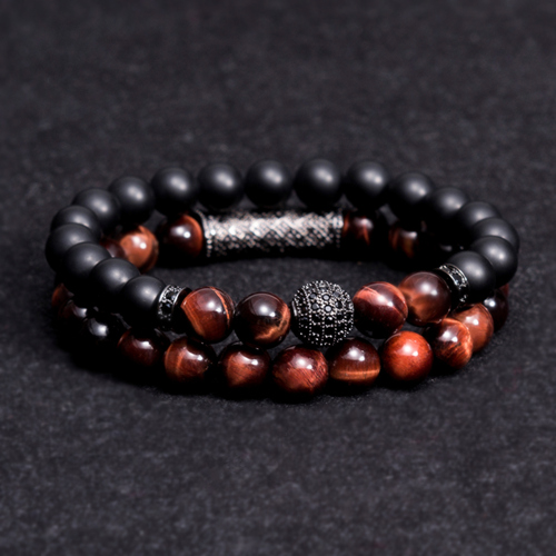 New arrive Men Woman Blue tiger eyes Bead Bracelet 10MM Micro Pave CZ Beaded Black Buddha