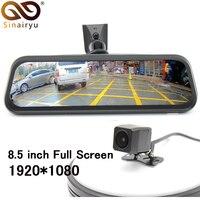 Sinairyu 1080 P двойной объектив 8,5 паром зеркало заднего вида монитор DVR цифровой видеомагнитофон OEM кронштейн и MCCD сзади камера заднего вида