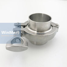 "A Set O/D 51mm Pipe Sanitary Tri Clamp Weld Ferrule + 2"" Tri Clamp + Silicon Gasket Assembly 304 Stainless Steel(China)"