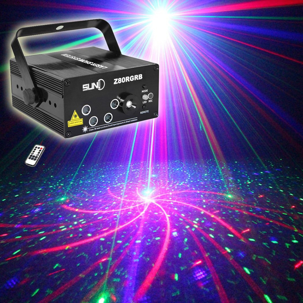 Best 5 lens 80 patterns rg laser projector stage lighting for Home lighting effects