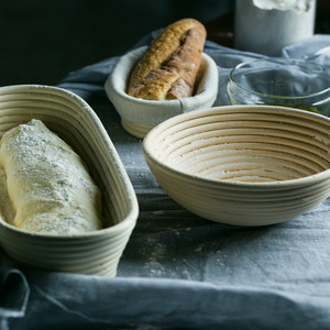 Rattan Oval Proofing Bread Bas