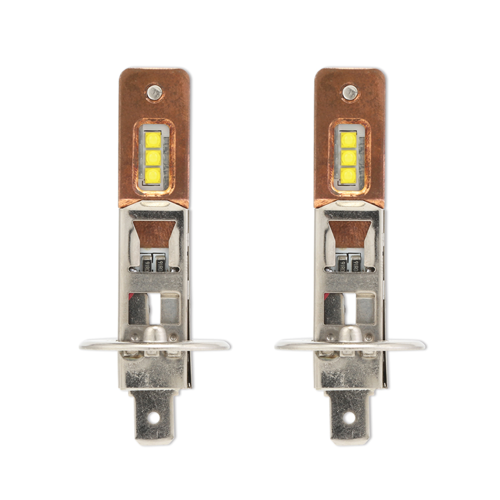 NIGHTEYE H1 9006 Car Led Headlights 12V 60W 1800lm Fog Lights Bulbs Copper Heat Conduction 6000K