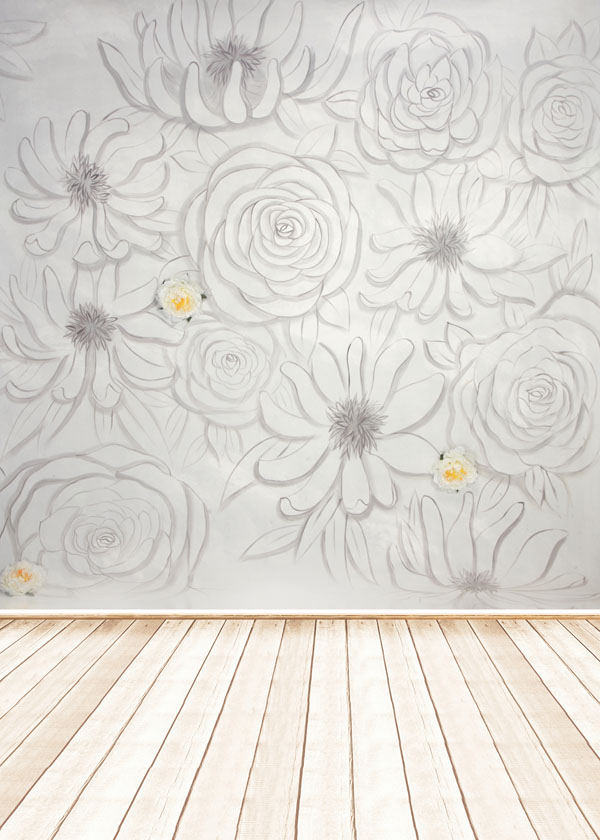 5x7ft or 3x5ft flower draw background for baby photo studio props children photography backdrop vinyl JieHC059
