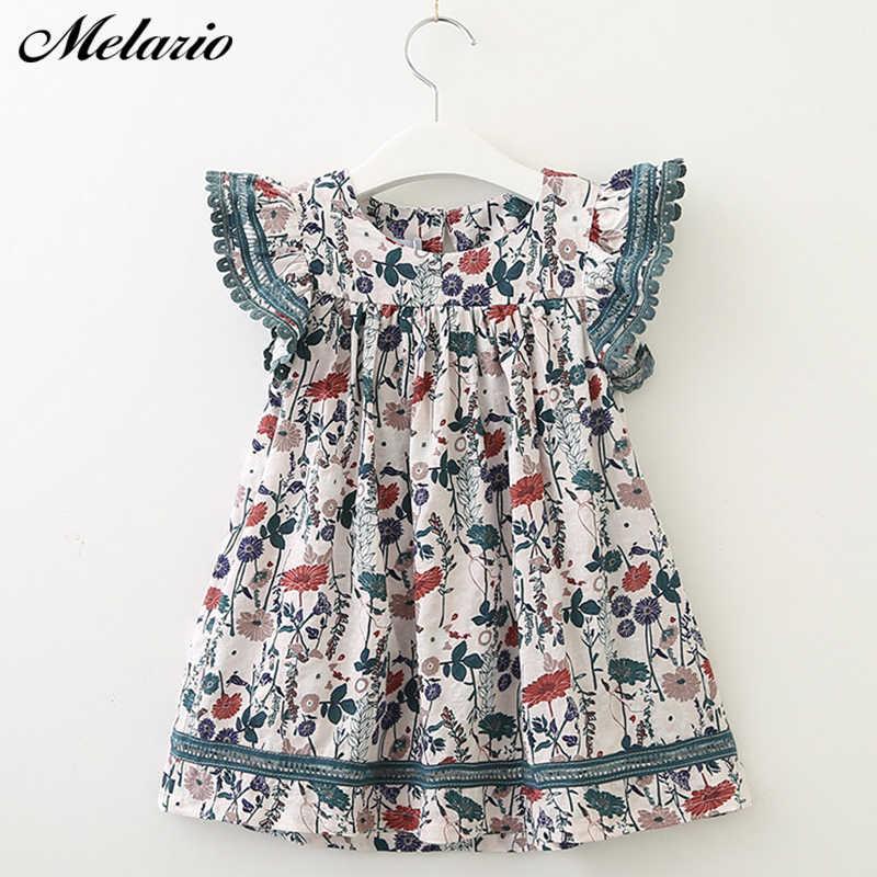 Melaro/платья для девочек коллекция 2019 года, осенняя Модная стильная одежда для девочек милое детское платье с бантом, лента с принтом парусника, одежда, платье для девочек
