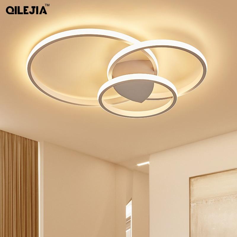 Ceiling Lights LED Lamp For Living Room Bedroom Study Room Home Deco AC85 265V Modern White