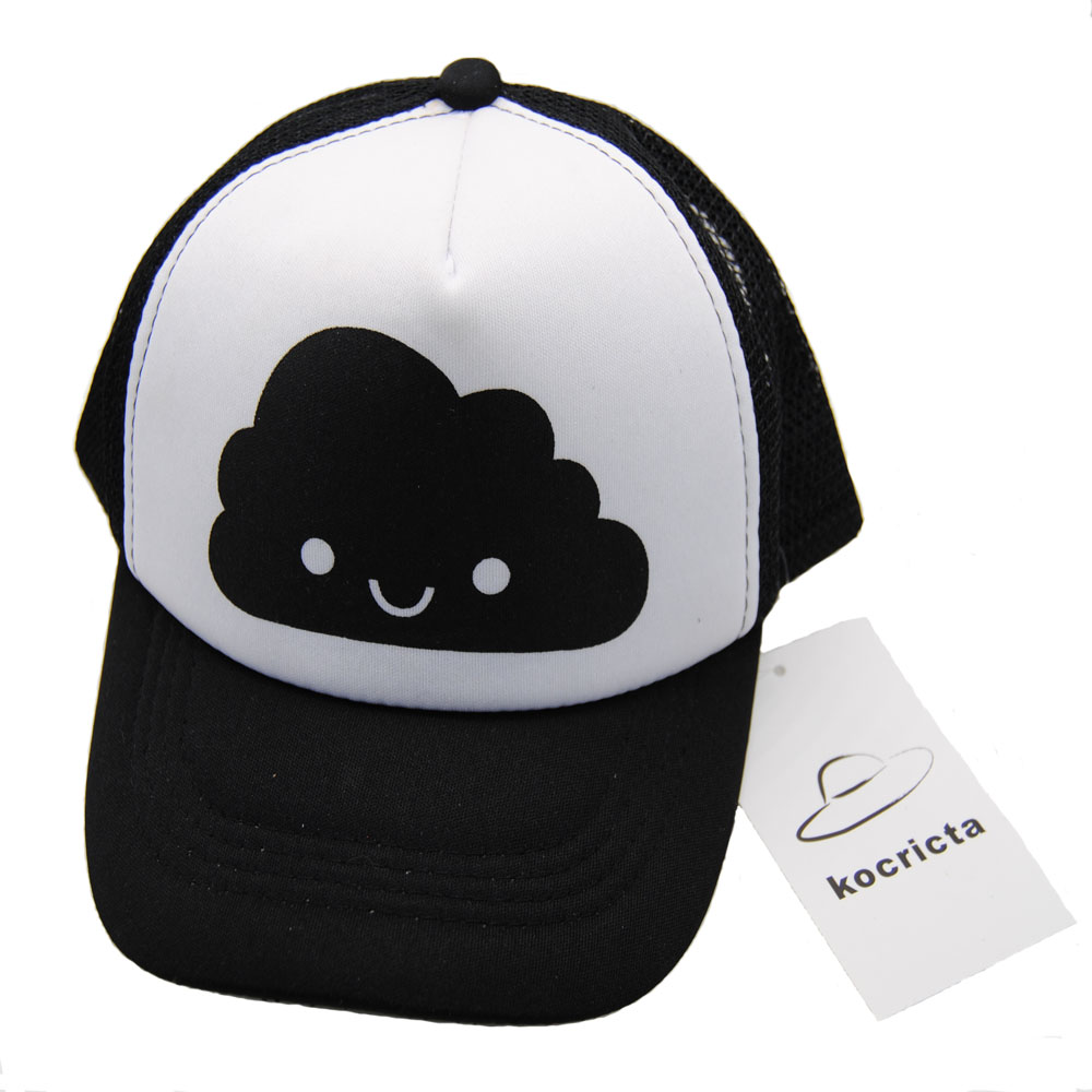 Smiling Cloud Toddler Snapback Cap - Front View