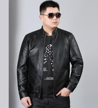 Leather Clothing Man Plus Fertilizer To Increase Pu Leather Jacket Collar Casual Large Spring And Autumn Leather Jacket