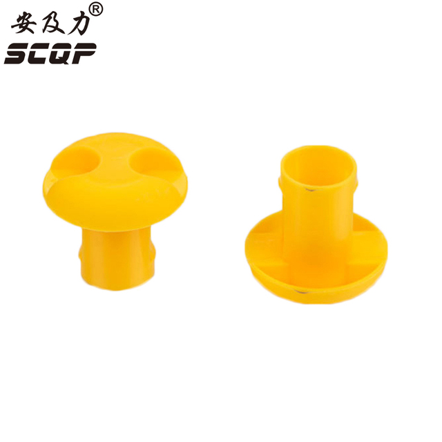 10 18MM Protective End Cap Plastic Cable Wire Thread Cover Steel ...