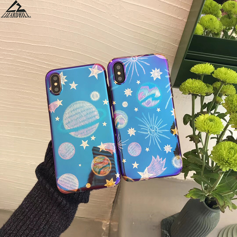 Lizardhill Blue ray Universe Phone Cases For iphone X Case For iphone 6 6S 7 8 Plus Cover Cute