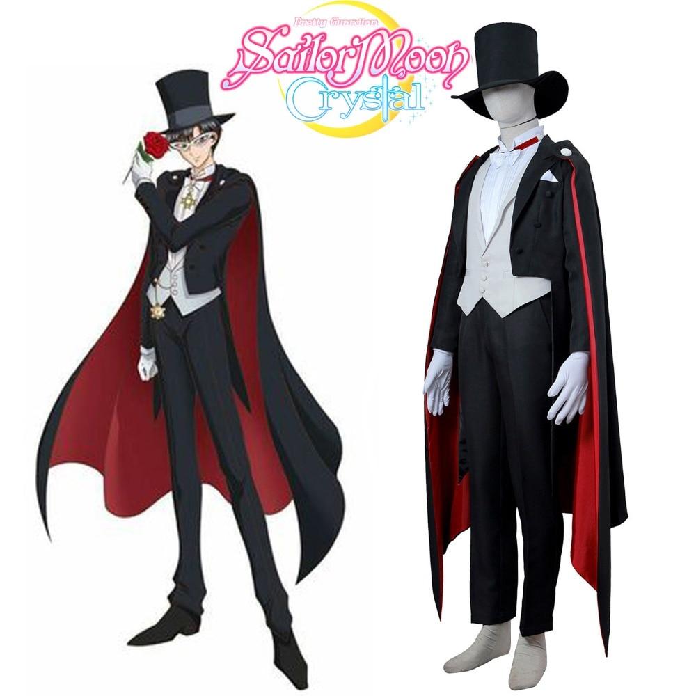 Tuxedo Mask Costume font b Sailor b font font b Moon b font Chiba Mamoru font