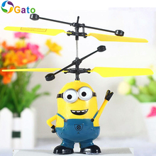 2016 Fly Flash Ball Remote Control RC Toys Despicable Me Minion Helicopter Quadcopter Drone Ar.drone Radio Sensor