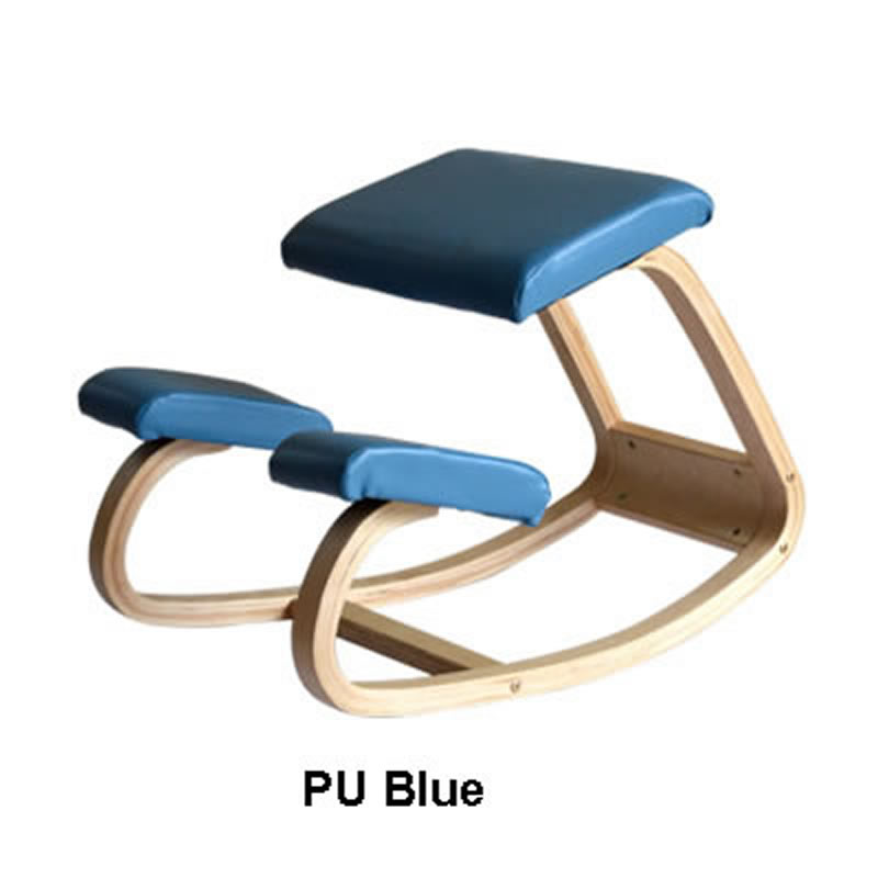 Ergonomic swinging wooden chair helps to correct sitting posture and child spine development