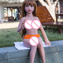 100cm real silicone sex dolls Mini anime Sex Doll lifelike with metal skeleton sex dolls for male
