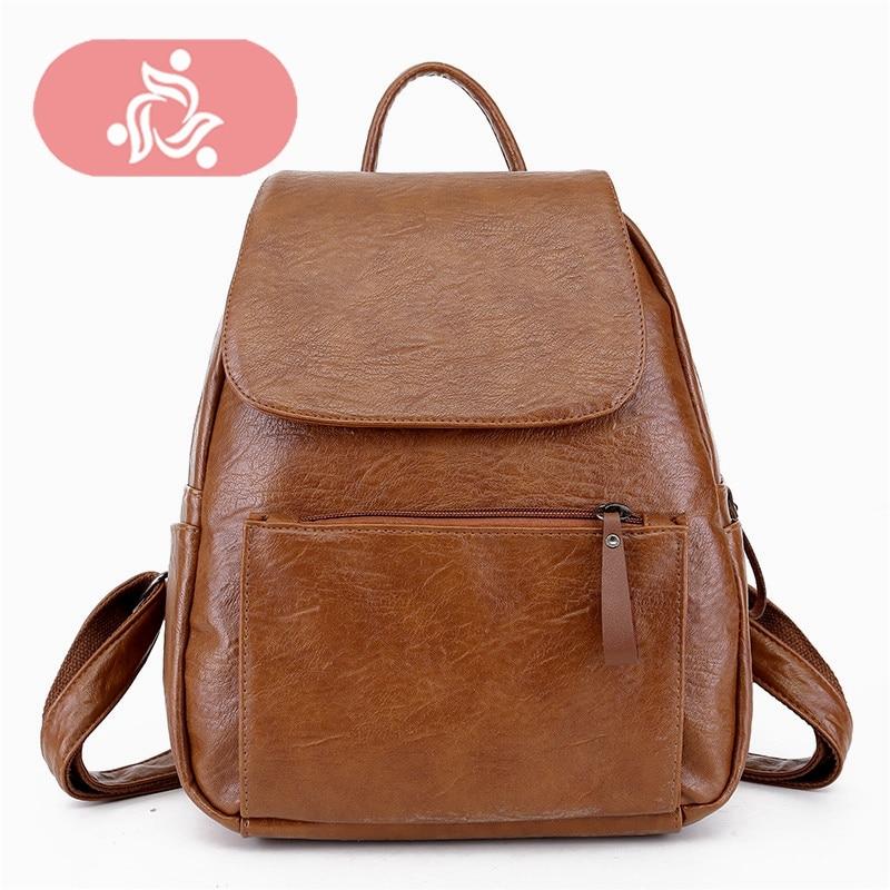 Backpack Women High Quality Pu Leather Laptop Backpacks For Teenage Girls Womens Backpack Lady Back Pack Student School Bookbag
