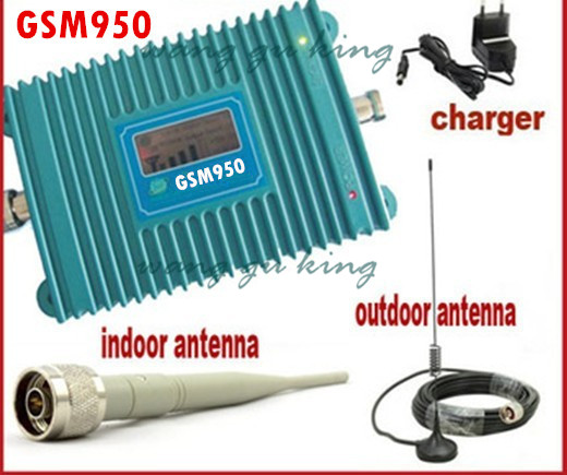 LCD Display GSM 900Mhz Mobile Phone GSM 950 Signal Booster , GSM Signal Repeater , Cell Phone Amplifier With 10M Cable + Antenna