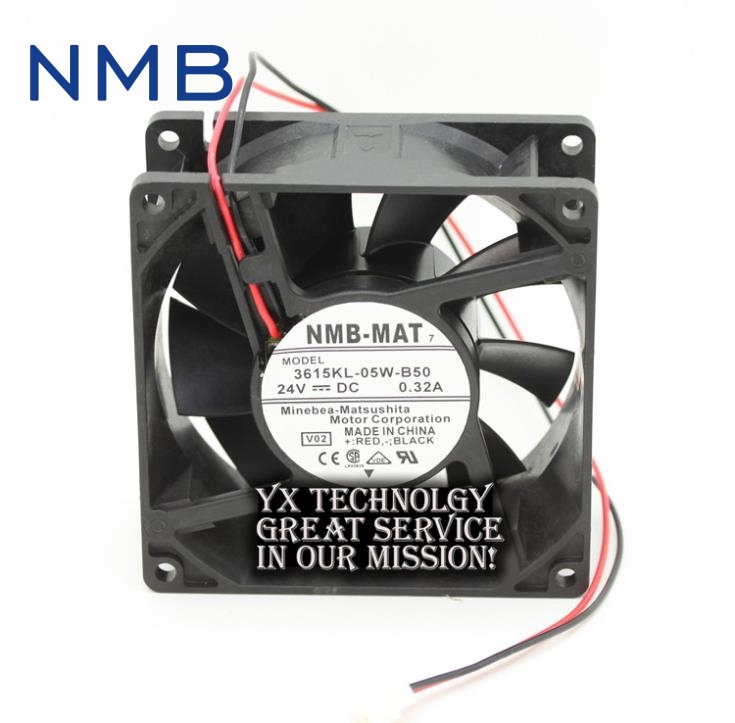 NMB new and original 90*90*38mm 3615KL-05W-B50 24V 9038 0.32A inverter ABB dedicated cooling fans genuine spare parts abb acs800 90 90 38mm 24v 0 32a 2 line waterproof fan pq1 3615 kl 05w b50
