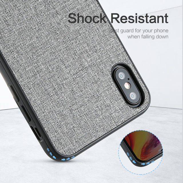 FLOVEME Retro Cloth Case For iPhone XR XS MAX X Classic Business Soft Phone Case For iPhone 7 8 Plus 6 6S Phone Cover Cases Capa