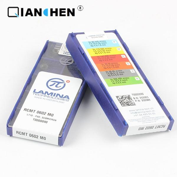 Genuine Original High Quality High-performance LAMINA RCMT 0602 MO LT10 (10pcs/lot) Tungsten Carbide Cutting Tools Inserts
