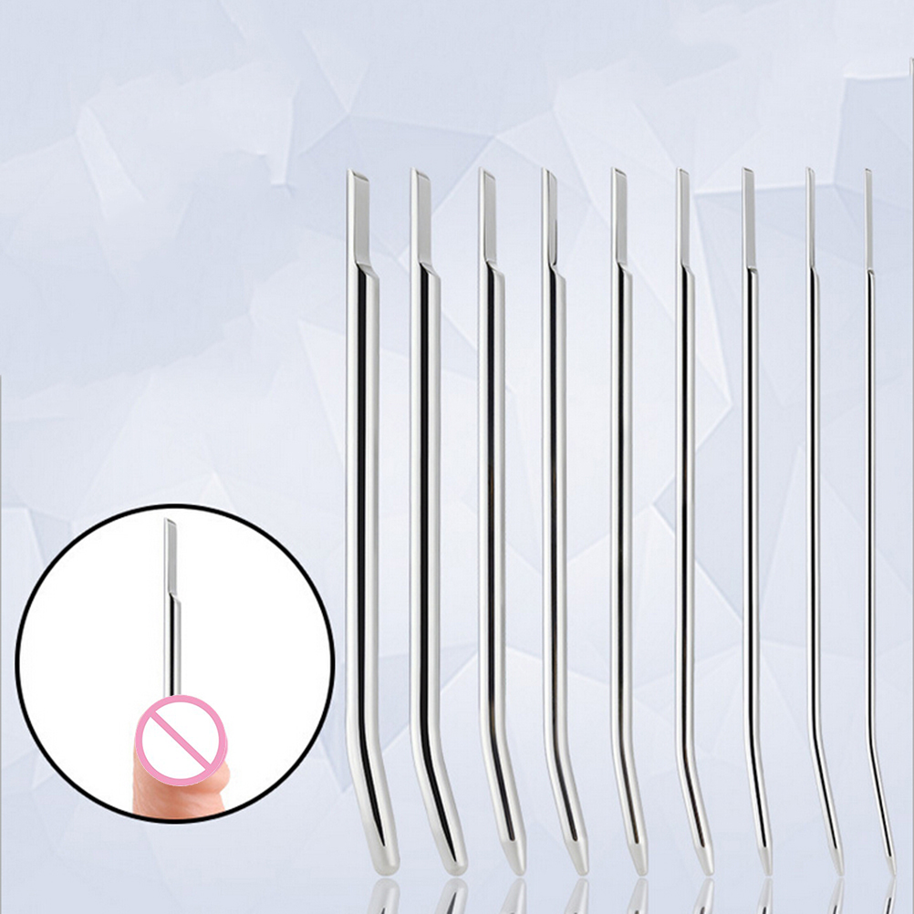 Electro Shock Urethral Dilators Sex Toys For Men Electro Shock Penis Plug Male Sounding Dilator Chastity Device 3/4/5/6/7/8mm